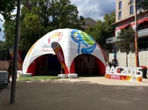 Tente de l'Asian Cup à Melbourne
