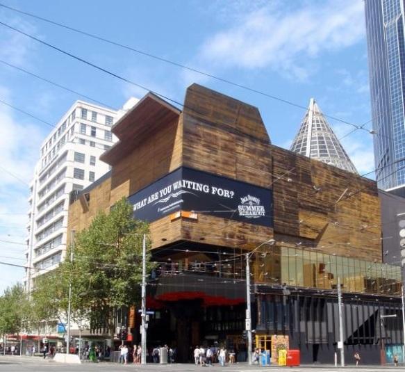 Vue extèrieure de Melbourne Central