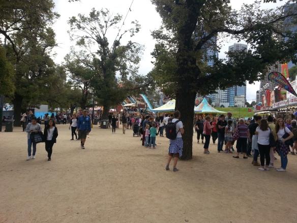 Moomba festival vu des allées
